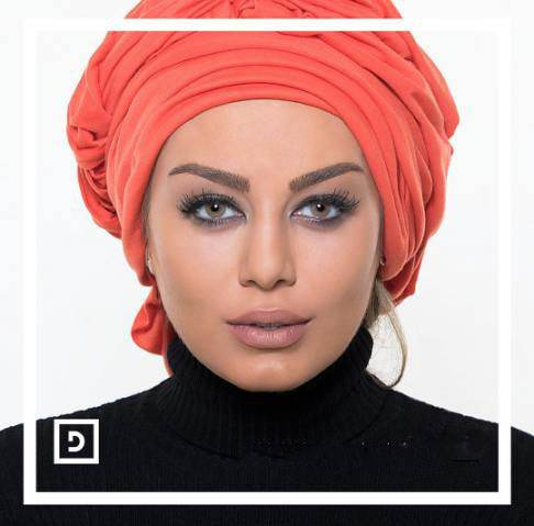 سحر قریشی مدلینگ تبلیغاتی لنز چشم رنگی شد
