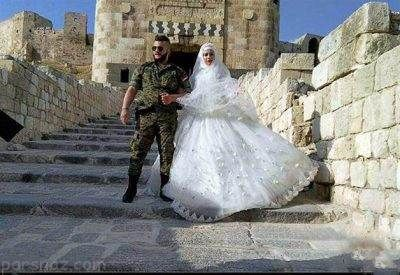 عروسی دسته جمعی سربازان سوری در شهر حلب