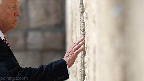 تصاویر ملانیا و ایوانکا ترامپ پای دیوار ندبه در اسرائیل