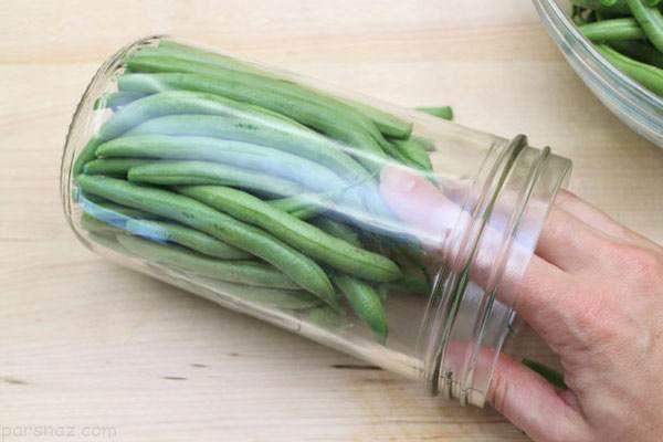 آموزش درست کردن ترشی لوبیا سبز خوشمزه و عالی