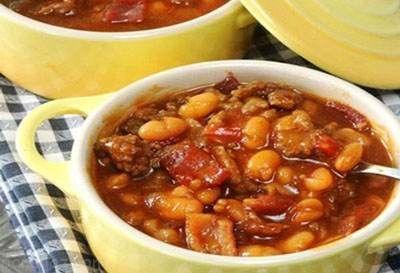طرز تهیه خوراک لوبیا با گوشت خوشمزه و عالی