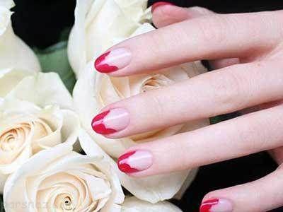 طراحی ناخن و لاک ناخن های زیبا به رنگ قرمز