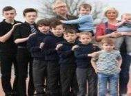 زوج انگلیسی که پشت سر هم 10 پسر به دنیا آورده اند