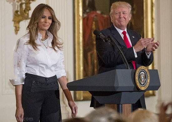 تیپ همسر و دختر دونالد ترامپ در مراسم کاخ سفید