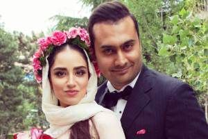 تصاویر عروسی هانیه غلامی بازیگر و همسرش