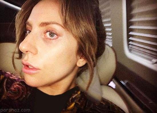 قیافه باورنکردنی بدون آرایش لیدی گاگا را ببینید