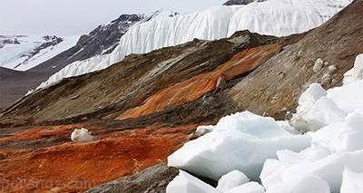 راز آبشارهای قطب جنوب که به رنگ خون هستند