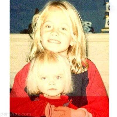 تصاویر جالب خواهران ستاره در دوران کودکی