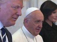 لباس ملانیا ترامپ در مقابل پاپ در ایتالیا جنجالی شد