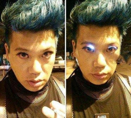 مدل عجیب لامپ برای زیبایی چشم مردان