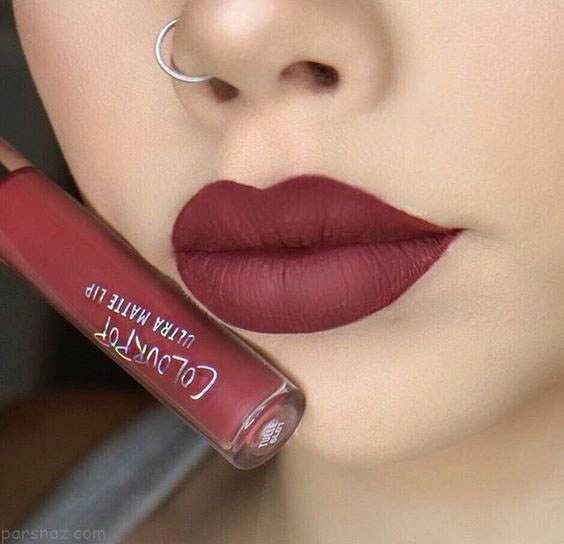 مدل های جذاب و زیبای آرایش لب با رژ لب مایع