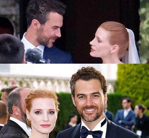 مراسم ازدواج بازیگر مشهور با مرد کوچکتر از خودش