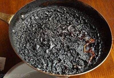 راه های تمیز کردن قابلمه ای که سوخته است
