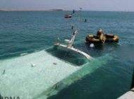 کشتی مسافربری در کیش کاملا غرق شد +عکس
