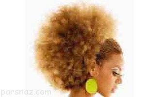 آرایش موهای این دختر به شکل مجسه ها است