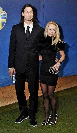 زلاتان ابراهیموویچ و همسرش که 11 سال از او بزرگتر است