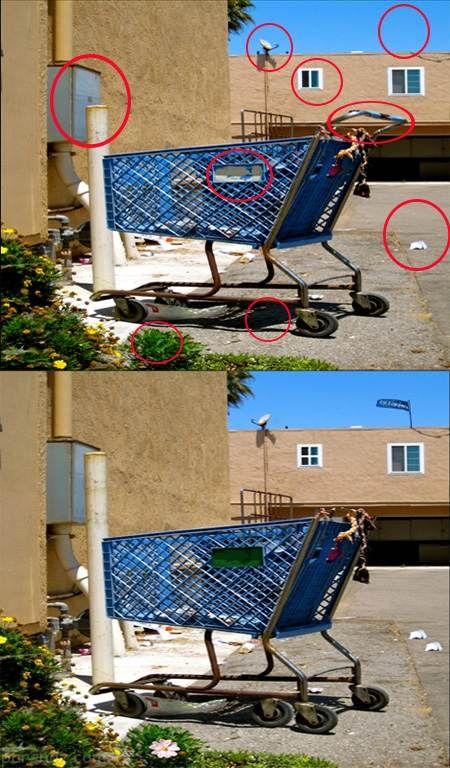 تست هوش تصویری یافتن فرق بین دو عکس