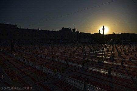 افطار روزه داران در حرم مطهر امام رضا (ع) در مشهد