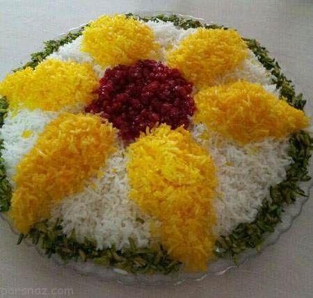 بهترین و زیباترین تزیینات برنج مخصوص مهمانی