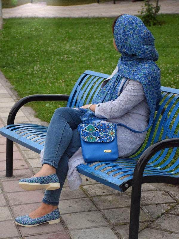 مدل ست کیف و کفش و شال ایرانی برند لیرو