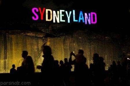 فستیوال نور و موسیقی و شادی مردم در استرالیا