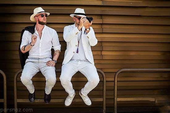 تیپ های مردانه در هفته مد خیابانی فلورانس ایتالیا