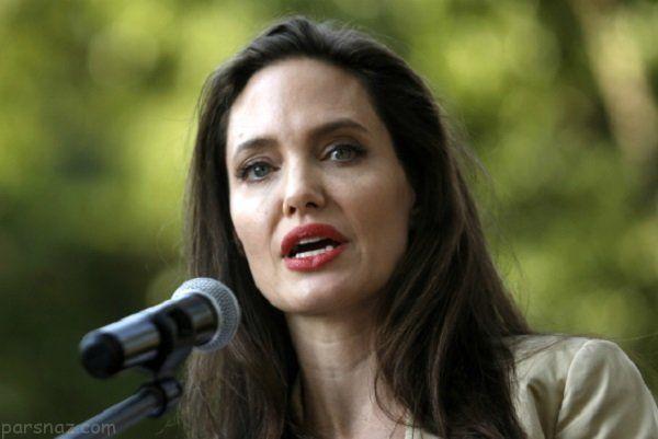 بیماری فلج صورت آنجلینا جولی پس از طلاق