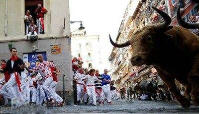 هیجان در فستیوال گاوهای خشمگین در اسپانیا