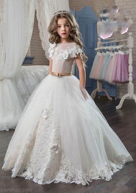 مدل های جدید لباس عروس دخترانه شیک 2017