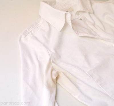 روش عالی برای از بین بردن لکه عرق روی لباس