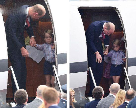 استایل کیت میدلتون و فرزندانش در سفر لهستان
