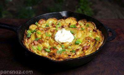 طرز تهیه بهترین غذا با سیب زمینی و ژامبون