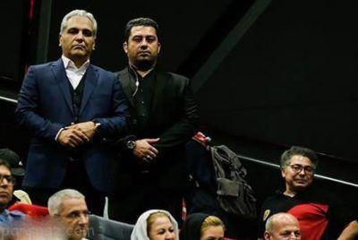 بادیگارد مهران مدیری در اکران فیلم ساعت 5 عصر
