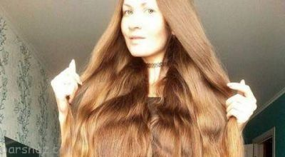 موهای این دختر 14 سال است کوتاه نشده +عکس