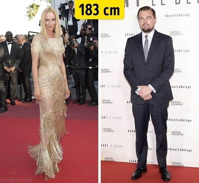 مقایسه جالب قد ستاره های زن و مرد مشهور هالیوودی
