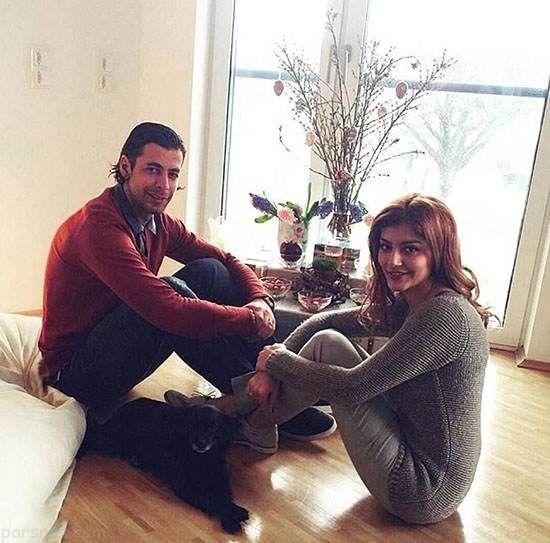 فریدون زندی و همسرش آرزو در حال خوش گذرانی لوکس