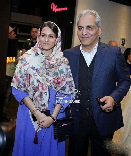 مهران مدیری و دخترش در اکران خصوصی ساعت 5 عصر