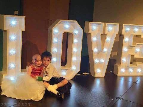 دختر بچه 5 ساله سرطانی با بهترین دوستش ازدواج کرد