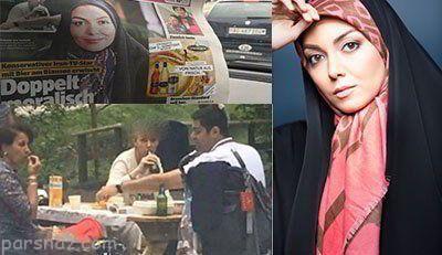جنجالی شدن بی حجابی آزاده نامداری در رسانه های خارجی
