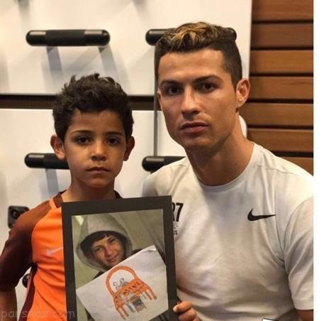 اعلام حمایت رونالدو و پسرش از کودکان سوری