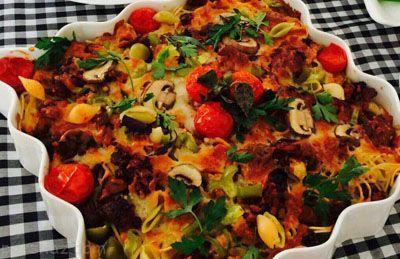 آموزش درست کردن ماكارونی و پاستا با پنير پيتزا