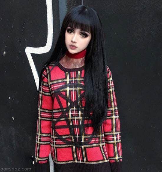 دختر چینی شبیه عروسک همه را متحیر کرد +عکس