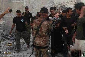 دختر زيباي روسي تك تيرانداز در موصل عراق