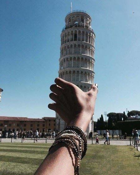عکس های جالب و خلاقانه کنار برج کج پیزا