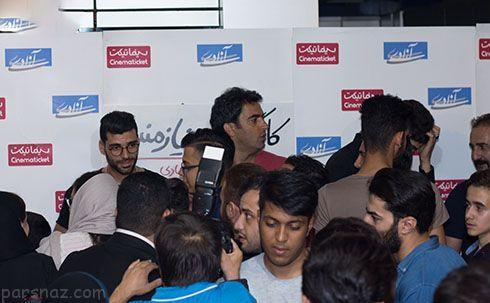 یکتا ناصر و منوچهر هادی در کنار فوتبالیست های مشهور