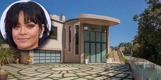 دکوراسیون فوق لوکس خانه ریحانا خواننده مشهور