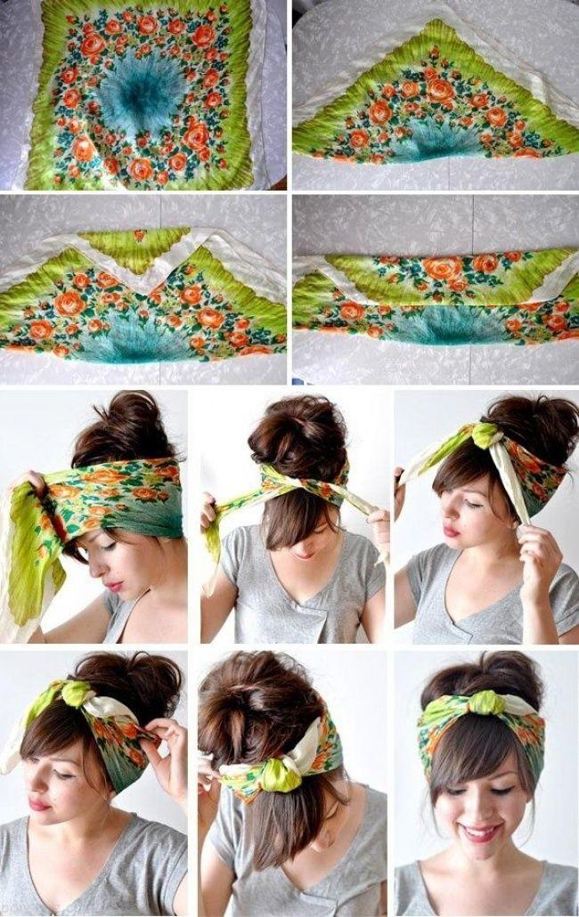 بهترین روش های بستن دستمال سر شیک و زیبا