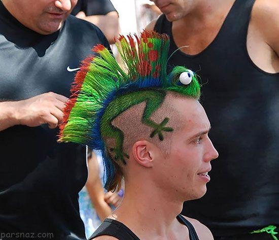 مدل موهای عجیب و غریب روی سر این آدم ها