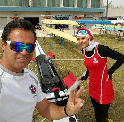 عکس های مهسا جاور قهرمان قایقرانی و همسرش