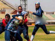 عکس های جالب از مسابقات راگبی دختران ایرانی